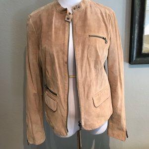 Ecru size M true suede jacket medium